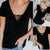 Fashion Lace Splicing Pure Colour Short Sleeve T-Shirt
