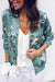 Long Sleeves Floral Printed Jacket