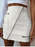 Patch Pocket Patchwork Zips Mini Skirts