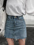 CutoutSingle ButtonPlain Mini Skirts