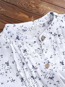 v-neck-floral-print-casual-tops