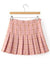 Women's Fashion Plaid Pattern Pleated Mini Skirt Day Dress