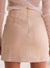 Elegant Zipper Fly Faux Suede Slim Bodycon Lace Up Skirt Going Out Dress