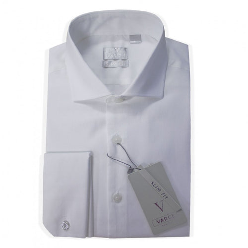 Mens Formal White Spread Collar Shirt
