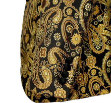 Load image into Gallery viewer, Gold/Black Stylish Paisley Tuxedo Dinner Jacket