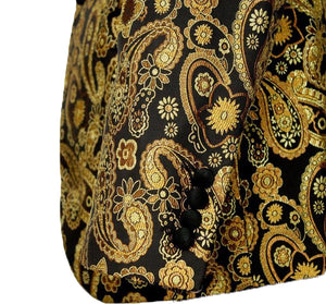 Gold/Black Stylish Paisley Tuxedo Dinner Jacket