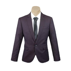 Men's Formal Trendy Burgundy Check Slim Fit Sport Jacket/Blazer