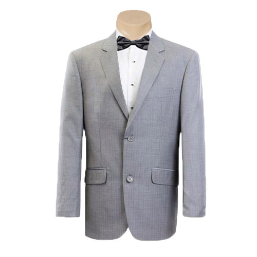 Men's Formal Business Wedding Charcoal Self Stripe Poly Wool Suit