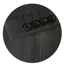 Load image into Gallery viewer, Men's Formal Trendy Charcoal Check Slim Fit Sport Jacket/Blazer