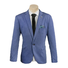 Load image into Gallery viewer, Men's Formal Blue Trendy One Button Sport Jacket/Blazer Slim Fit