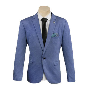 Men's Formal Blue Trendy One Button Sport Jacket/Blazer Slim Fit