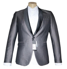Load image into Gallery viewer, Silver Patterned Tuxedo Dinner Jacket