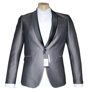 Silver Patterned Tuxedo Dinner Jacket