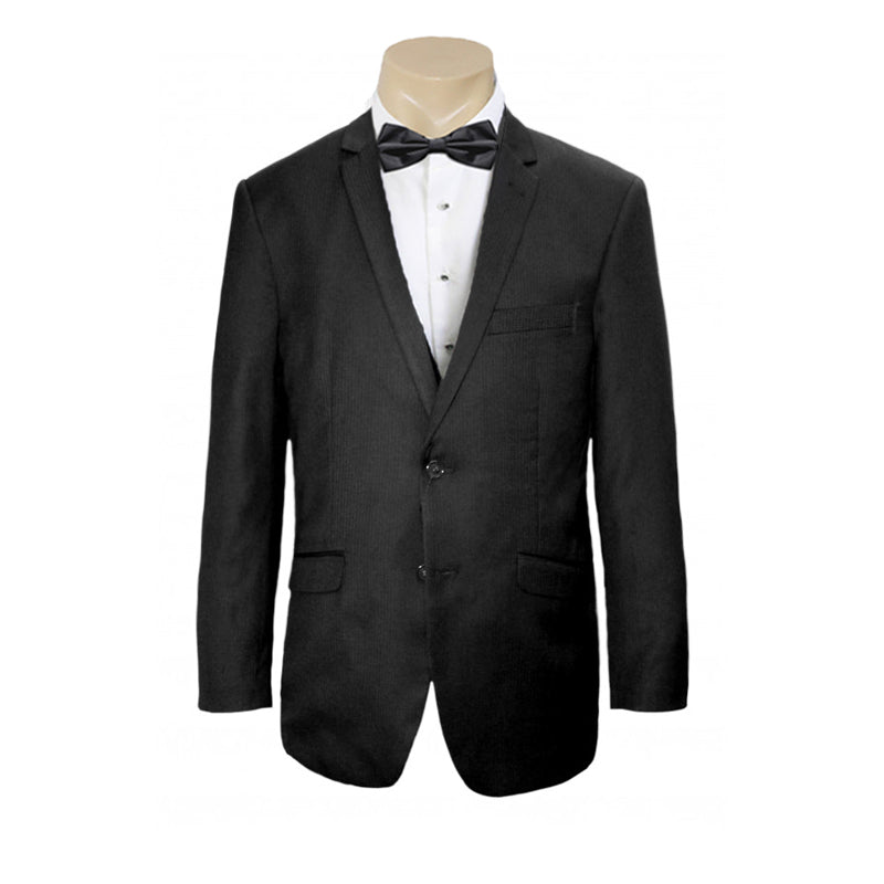 Mens or Groomsmen wedding Formal Black Self Stripe business Jacket