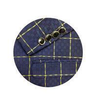 Load image into Gallery viewer, Men's Formal Navy Check One Button Sport Jacket/Blazer Slim Fit