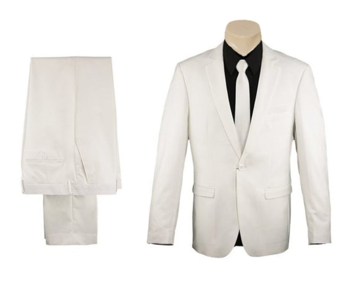 Ivory Formal Trendy Slim Fit SUIT