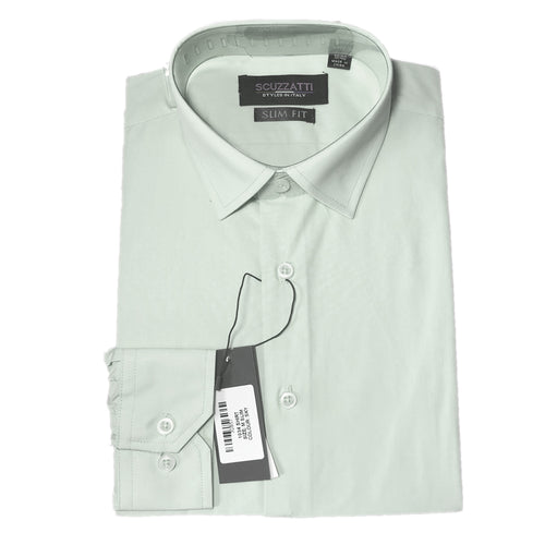 Men's Formal Ivory Poly Cotton Plain Shirt