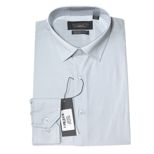 Mens Formal White Poly Cotton Plain Shirt