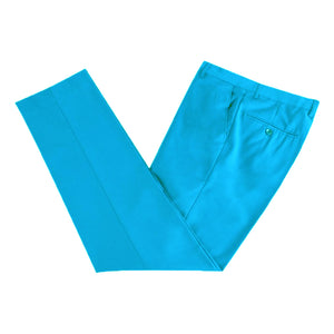 Mens Formal Aqua Microfibre Coloured Trousers