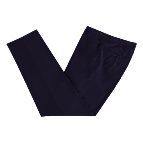 Men's Formal Black Microfibre Coloured Trousers