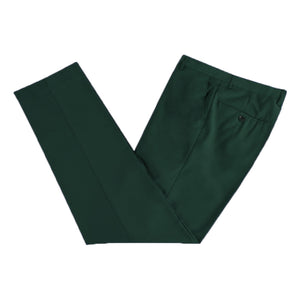 Men's Formal Emerald Green Microfibre Coloured Trousers