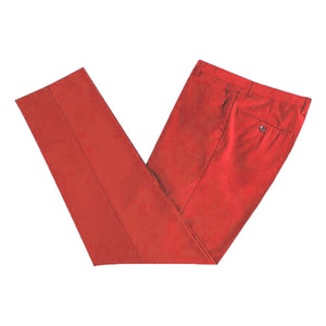 Men's Formal Red Microfibre Coloured Trousers