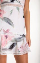 Load image into Gallery viewer, Women's Blush Floral Dress With Trim and Ruffle Details