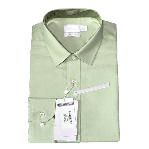 Men Formal Business Beige Cotton Business Shirt
