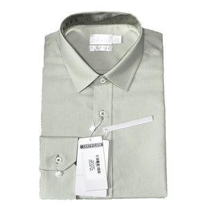 Mens Formal Ivory Cotton Birdseye Collar Shirt