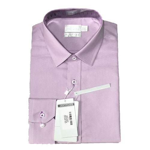 Mens Formal Light Pink Cotton Birdseye Collar Shirt