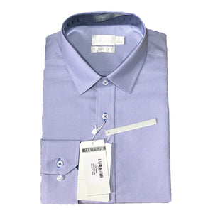 Mens Formal Sky Blue Cotton Birdseye Collar Shirt