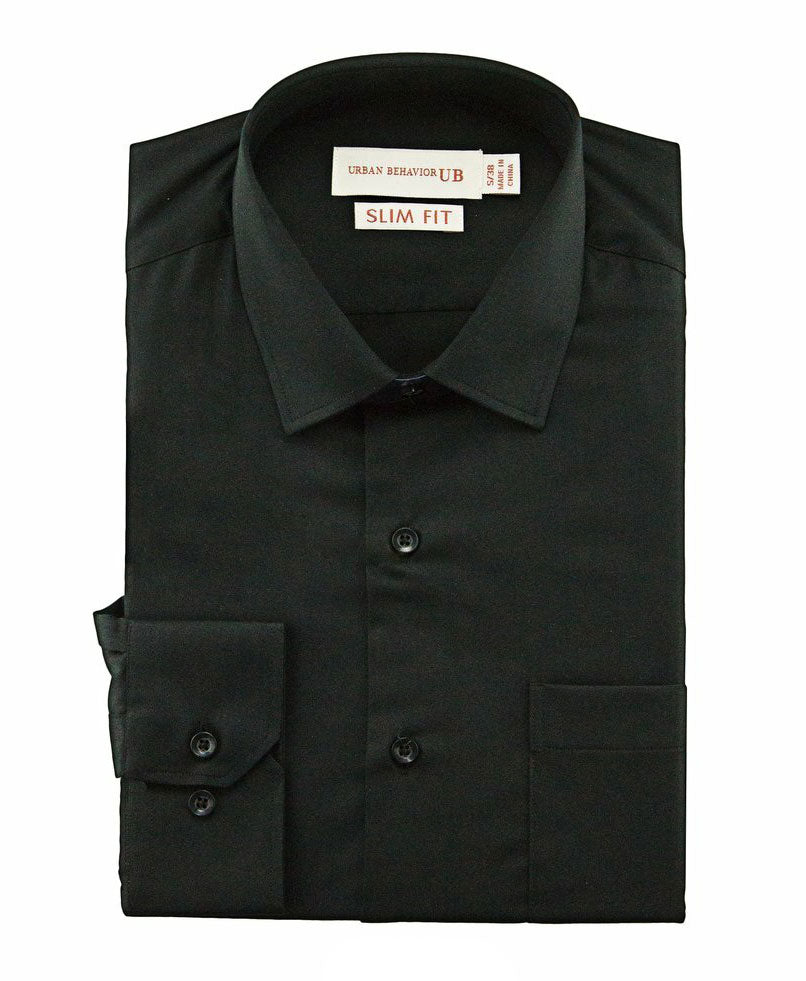 Men Formal Black Soft Bamboo Plain Shirt