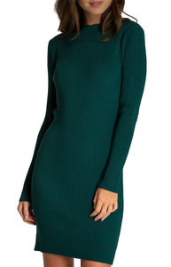 Women's Emerald Fitted Knit Sweater Pullover Long Sleeve