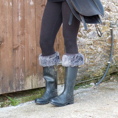 boot toppers grey