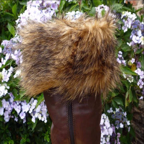 Brown Bear Boot Cuffs