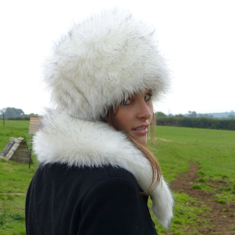 Snow Fox Faux Fur Hat