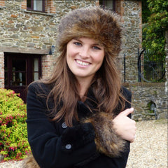 Glamorous Country Equestrian Faux Fur Headband Hat made in UK for ... 887ff8079de