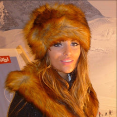 Faux Fur Hat - Red Fox