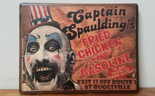 Captain Spaulding Wood Plaque