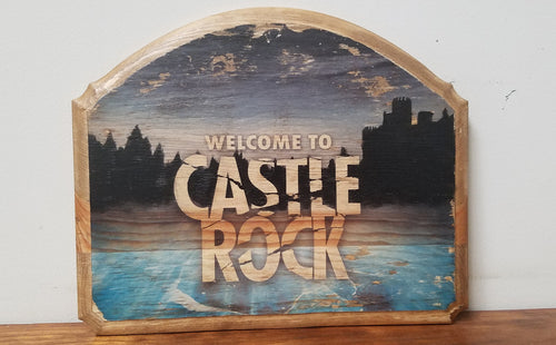 Castle Rock Sign Plaque