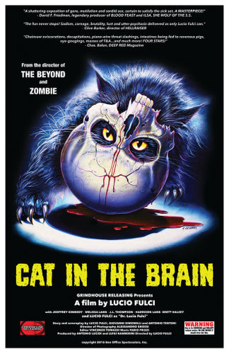 Cat in the Brain - 11x17 Poster Print