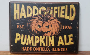 Haddonfield Pumpkin Ale - Halloween Wood Plaque