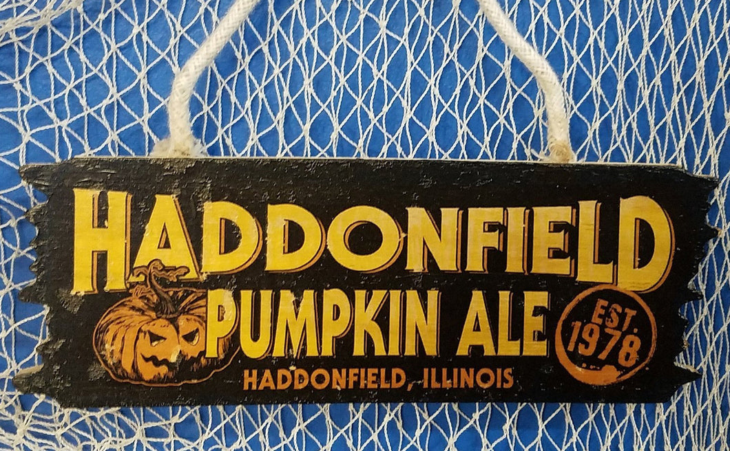 Haddonfield Pumpkin Ale Mini Wood Hanger