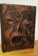 Load image into Gallery viewer, Handmade Evil Dead Wooden Neconomicon Storage Stash Box