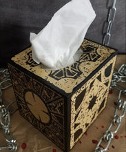 Load image into Gallery viewer, Handmade Hellraiser Wooden Puzzle Box Tissue Box