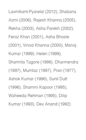 Filmfare Lifetime Achieve-ment Award Winning Actors