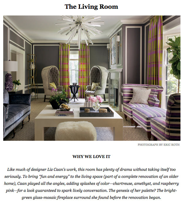 Best of Boston Home 2014 featuring Liz Caan, Winner of Best Interior Designer for the Living Room Category