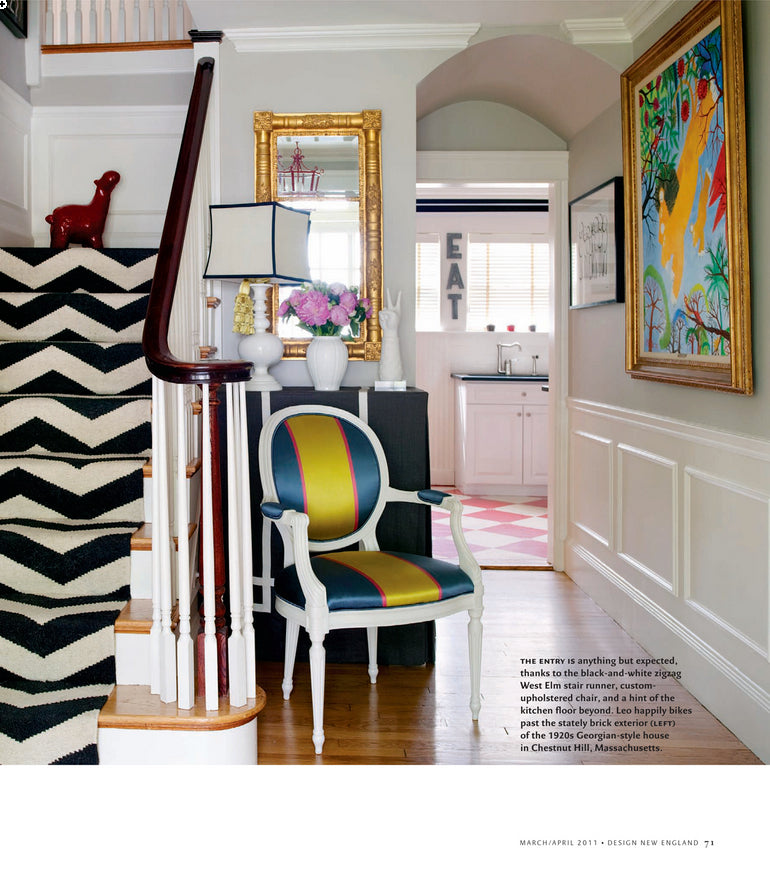 Design New England March April 2011 featuring Liz Caan Interiors in High Voltage