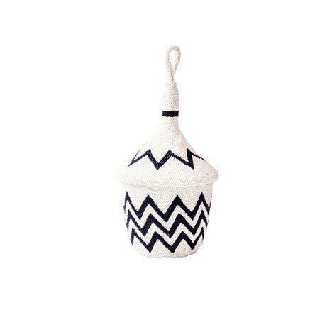 Zigzag Beaded Peace Basket