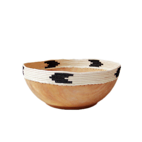 Copabu Arrow Bowl - White & Black